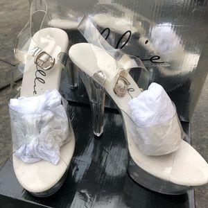 Ellie clear heels, size 9
